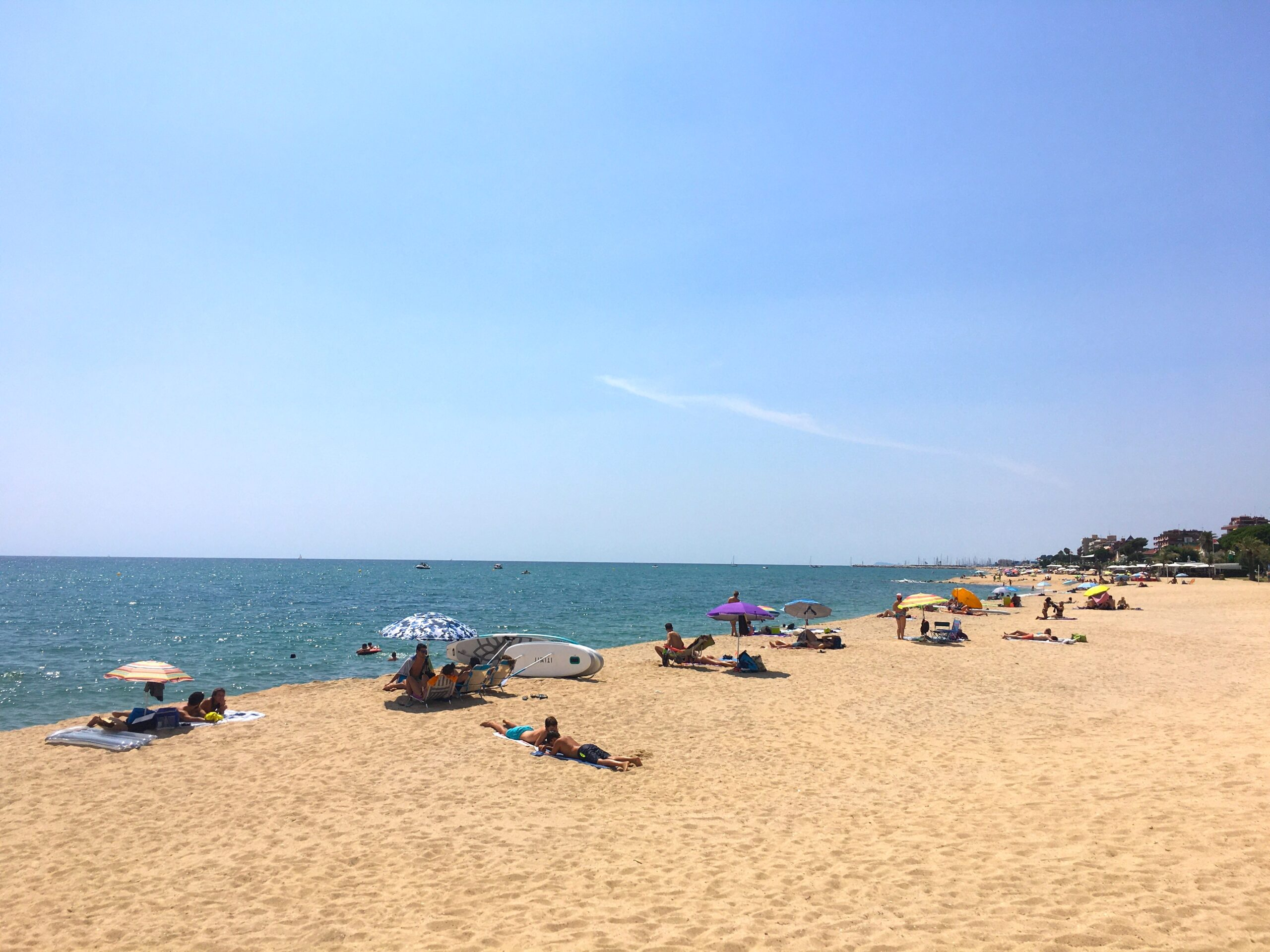 Sandstrand von Caldes d'Estrac_Abschnitt Platja los tres Micos